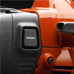 Vieglāka iedarbināšana Tik viegli, kā 1, 2, 3: 1. Nospiediet degvielas sūkni 2. Nospiediet start pogu 3. Paraujiet aiz startera roktura… un aiziet!