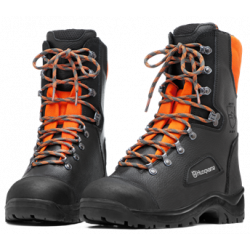 Protective leather boots with saw protection, Classic 20, Husqvarna