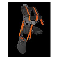 Uzkabe Balance XT Ergonomiska uzkabe ar platu un regulējamu muguras balstu, plecu lencēm un gurnu jostu, kas sadala slodzi pa lielāku laukumu.
