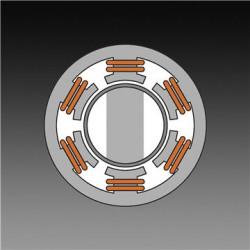 Bezsuku motors Augsta griezes momenta un svara attiecība, lai palielinātu efektivitāti, palielinātu uzticamību, samazinātu troksni un nodrošinātu ilgāku produkta kalpošanas laiku.