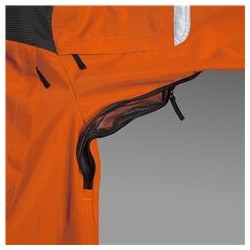 Ventilation zipper that can be opened for higher comfort