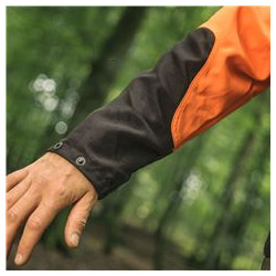 The wrists and lower part of sleeves has been reinforced to withstand tough use.