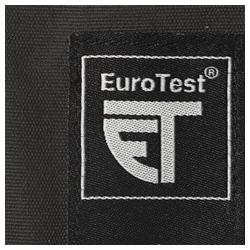 Этикетка EuroTest указывает, что случайно выбранные образцы регулярно проверяются аккредитованным органом.