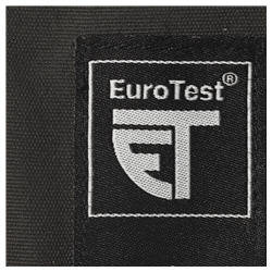 The EuroTest mark shows that randomly selected samples are regularly re-inspected by an accredited institute.