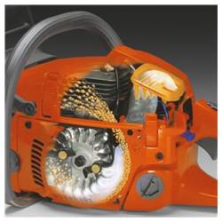 Air Injection Centrbēdzes gaisa tīrīšanas sistēma samazinātam nodilumam un ilgāka darba laika nodrošināšanai starp filtra tīrīšanas reizēm.