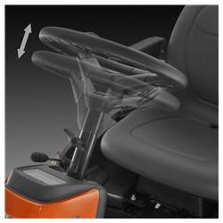 Regulējams stūres rats Lai uzlabotu ergonomiku un komfortu, teleskopiskā stūres statne ļauj regulēt stūres rata augstumu.