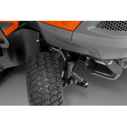 Dual draglinks Give tighter turning radius and improved maneuverability.