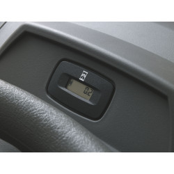 Hour meter with service minder Indicates when it's time to service your tractor.