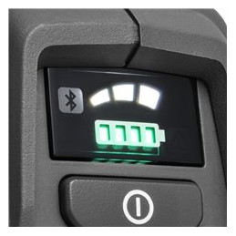 The 3-speed mode allows you to maximise your runtime by adjusting the power output to the current working conditions.
