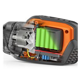 Bezsuku E-TORQ dzinējs Husqvarna izstrādātie E-TORQ dzinēji ir lieliski pielāgoti katram lietojumam. Bezsuku konstrukcija samazina kustīgo detaļu skaitu, un motori ir konstruēti tā, lai izturētu smagu un ilgstošu profesionālu izmantošanu. Tie ir pilnīgi bez tehniskās apkopes vajadzības un kalpos visu produkta ekspluatācijas laiku.