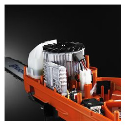 Efficient brushless motor Our in-house developed, advanced brushless motor is 25 % more efficient than a standard brush motor. This means that the motor provides a high and consistent torque.