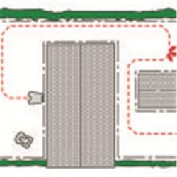 Две стартовые точки Равнозначное качество кошения по всему газону благодаря возможности начать кошение в двух различных точках вдоль направляющего провода. Чем больше площадь газона, тем важнее начинать кошение в нескольких стартовых точках.