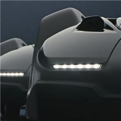 LED priekšējie gaismas lukturi Efektīvi LED lukturi labākai redzamībai un kontrolei arī diennakts tumšajā laikā. Gaismas sāk mirgot arī tad, ja tiek traucēta darbība.