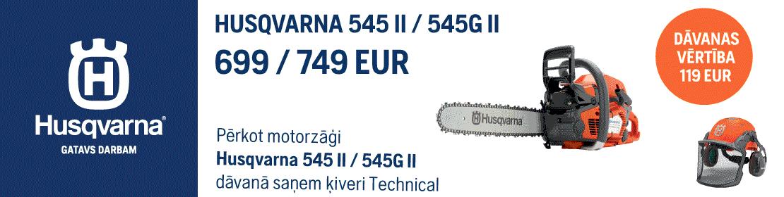 Motorzāģis HUSQVARNA 545 II / 545G MARK II 15'' dāvanā ķivere Technical